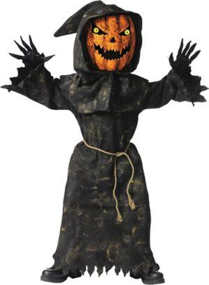 Boys Bobble Head Pumpkin Costume