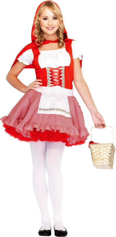 Teen Girls Classic Little Red Riding Hood Costume