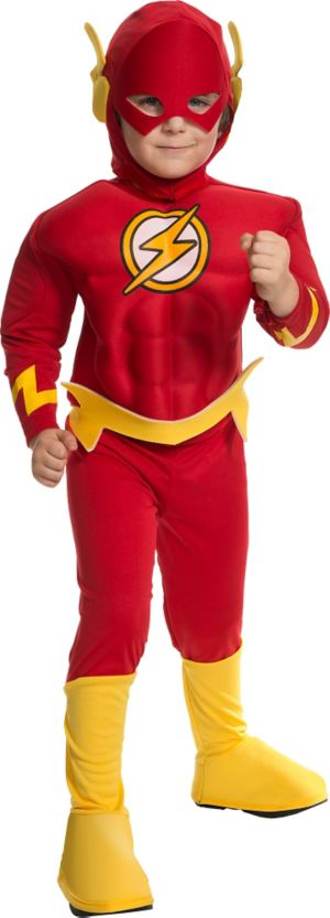 Little Boys The Flash Muscle Costume