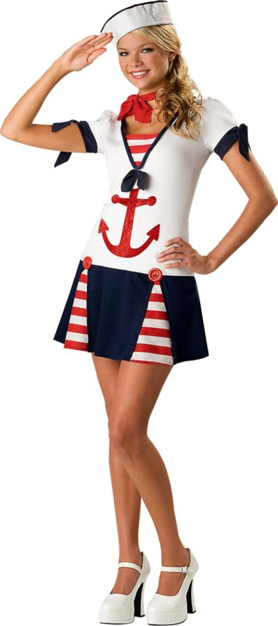 Teen Girls Sassy Sailor Costume