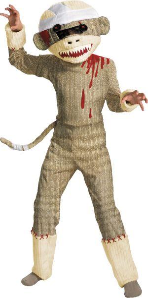 Boys Zombie Sock Monkey Costume