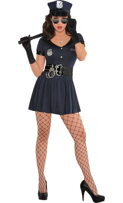 Adult Officer Rita Dem Rights Police Costume