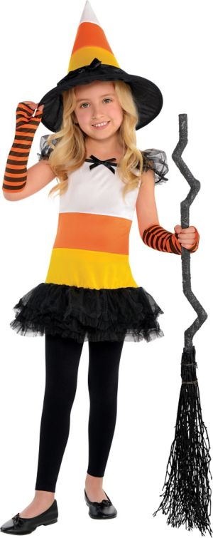 Little Girls Candy Corn Charmer Costume