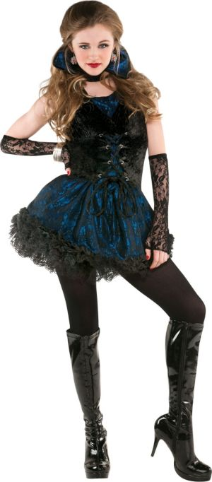 Teen Girls Midnight Vampire Costume