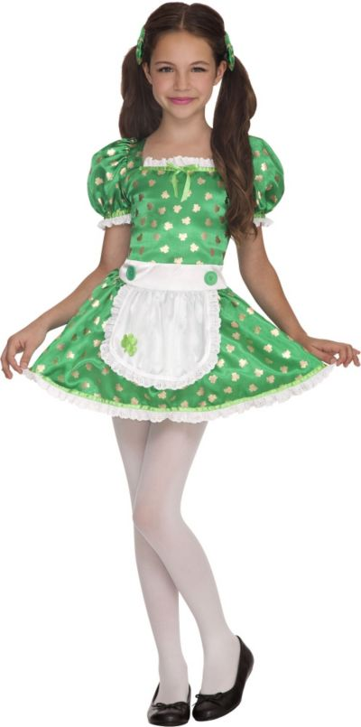 Girls Clover Cutie Leprechaun Costume