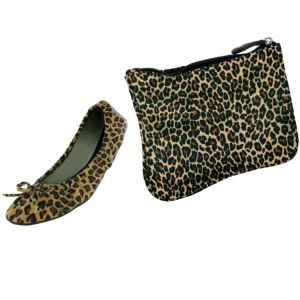 Sidekicks Leopard Travel Ballet Flats