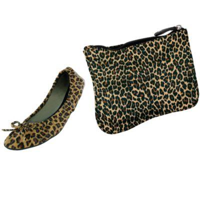 Sidekicks Leopard Travel Ballet Flats