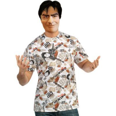 Charlie Sheen Mask and Shirt