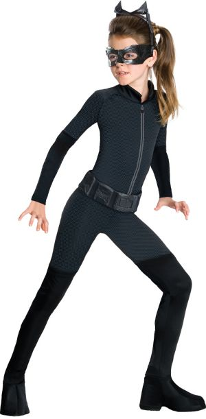 Girls Catwoman Costume - The Dark Knight Rises Batman