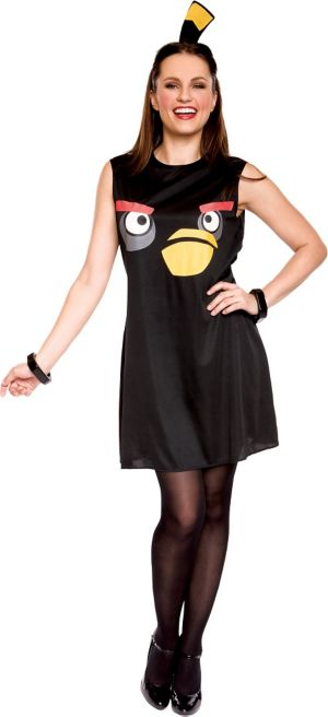Adult Sassy Black Angry Birds Costume