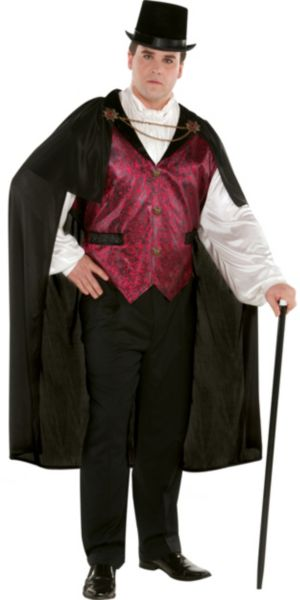 Adult Blood Count Vampire Costume Plus Size