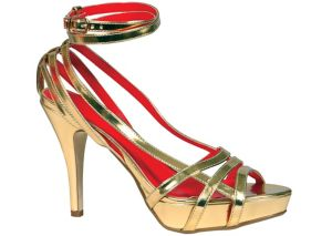 Gold High Heel Sandals