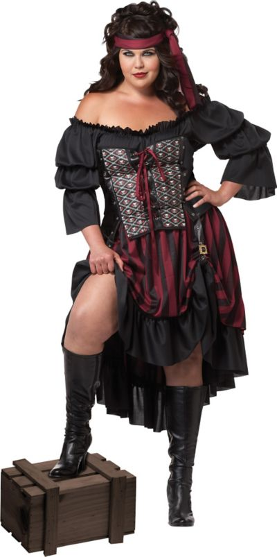 Adult High Seas Pirate Priestess Costume Plus Size
