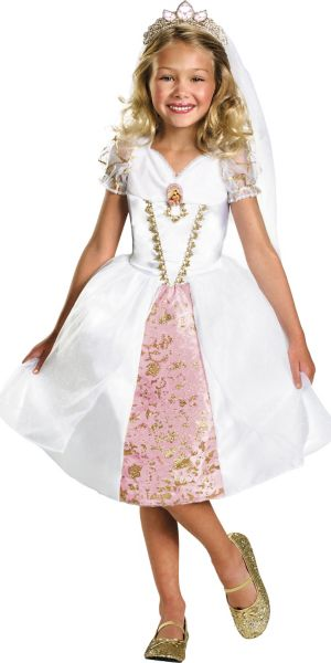 Girls Rapunzel Wedding Gown Costume