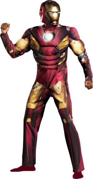 Adult Mark VII Iron Man Muscle Costume