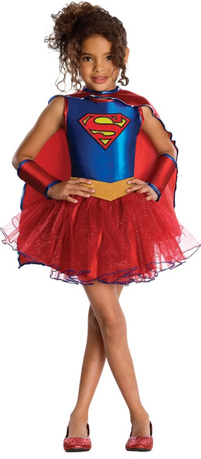 Girls Supergirl Tutu Costume - Superman