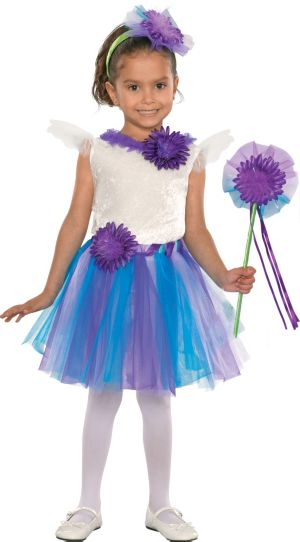 Toddler Girls Purple Daisy Fairy Costume