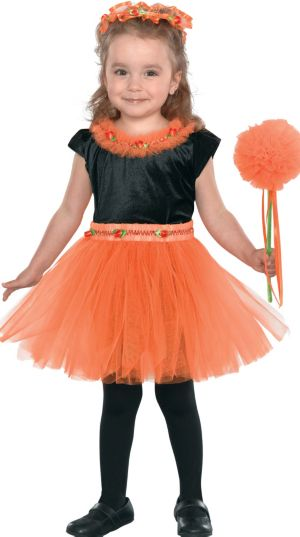 Toddler Girls Zesty Orange Fairy Costume
