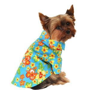 Blue Hawaiian Dog Shirt