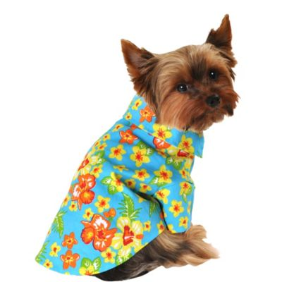 Blue Hawaiian Dog Shirt