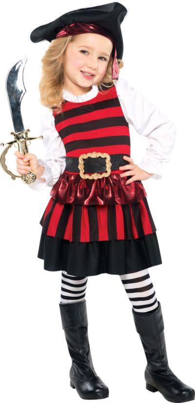 Toddler Girls Little Lassie Pirate Costume