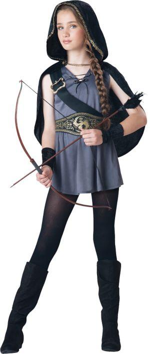 Girls Hooded Huntress Costume