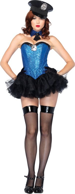 Adult Captivating Cop Costume