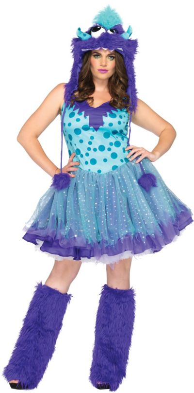 Adult Polka Dotty Monster Costume Plus Size