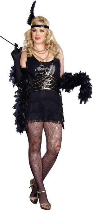 Adult Ain't Misbehavin' Flapper Costume Plus Size