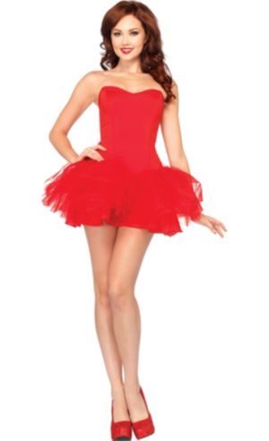 Red Corset Tutu Dress