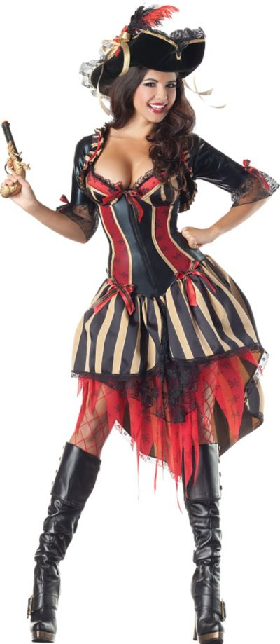 Adult Pirate Body Shaper Costume
