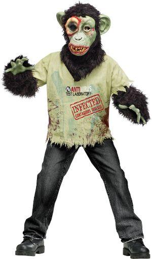 Boys Zombie Chimp Costume