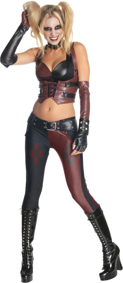 Adult Arkham City Harley Quinn Costume - Batman