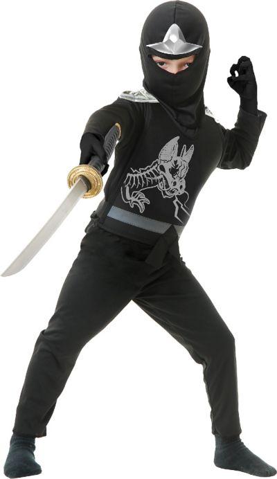 Boys Black Ninja Avenger Costume Deluxe