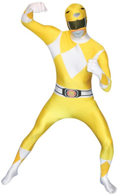 Adult Yellow Power Ranger Morphsuit