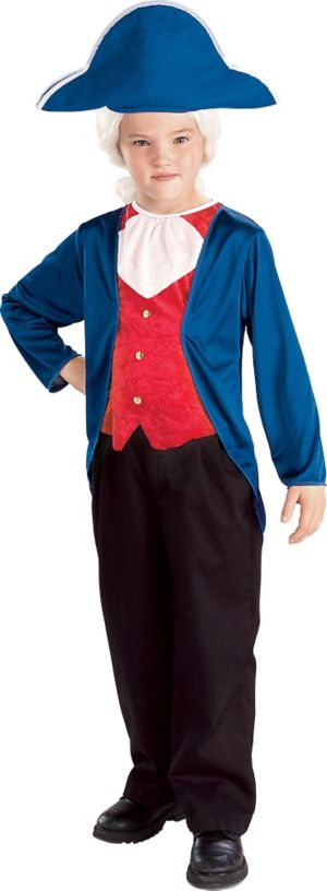 Boys Patriotic George Washington Costume
