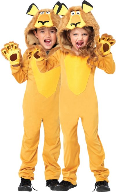 Child Alex the Lion Jumpsuit Costume - Madagascar