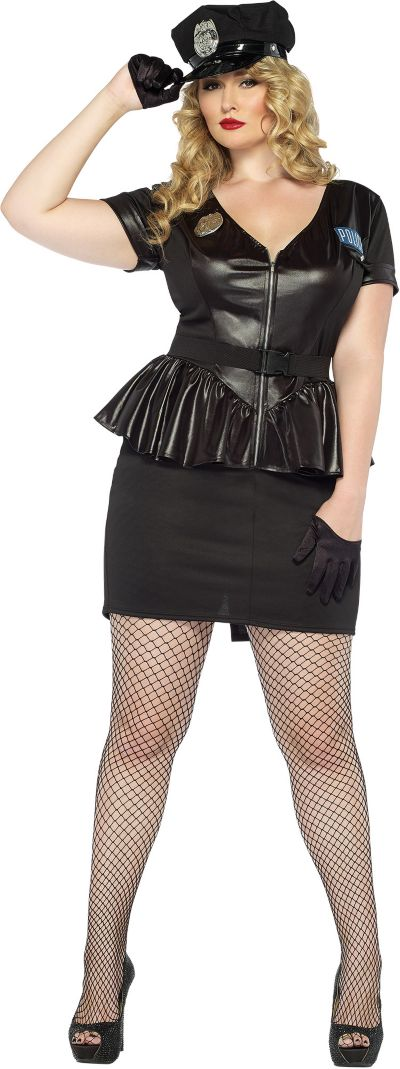 Adult Traffic Stop Cop Costume Plus Size