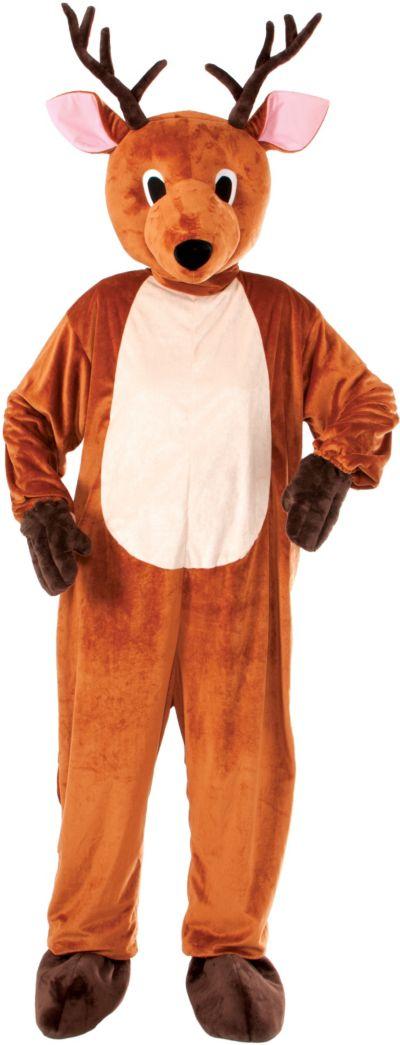 Adult Mascot Reindeer Jumpsuit Costume