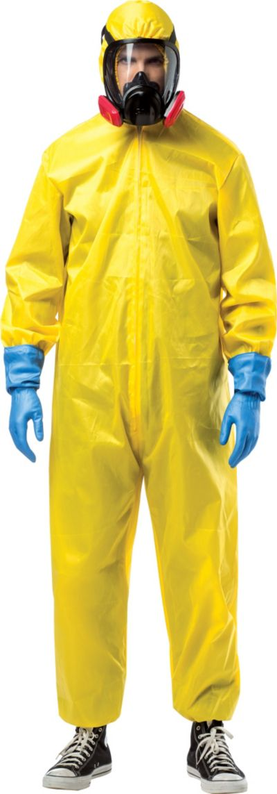 Adult Hazmat Suit Walter White Costume - Breaking Bad