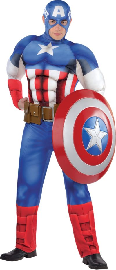 Adult Captain America Muscle Costume Classic