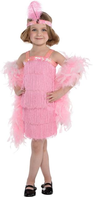 Little Girls Pink Flapper Costume