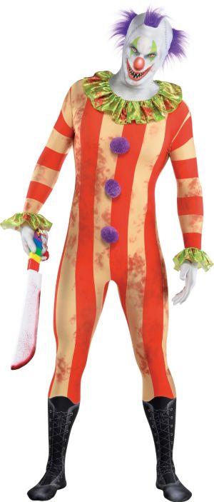 Adult Creepy Clown Partysuit