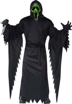 Adult Light-Up Ghost Face Costume - Scream