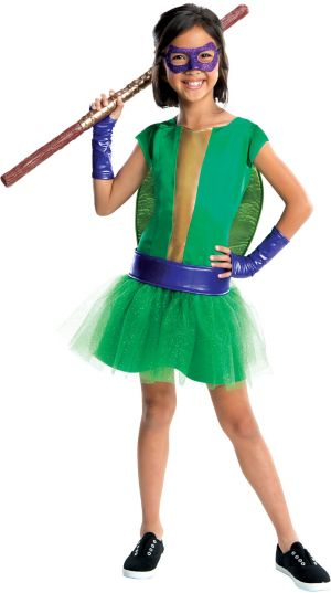 Girls Donatello Costume Deluxe - Teenage Mutant Ninja Turtles