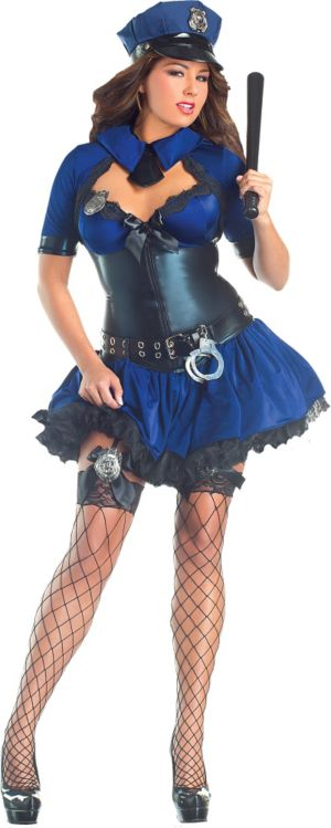 Adult Sultry Police Officer Body Shaper Costume Plus Size