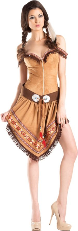 Adult Native American Princess Body Shaper Costume