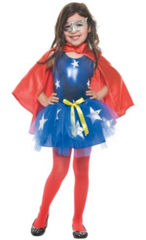Toddler Girls Tutu Superhero Costume