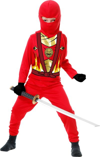 Toddler Boys Red Ninja Avenger Costume