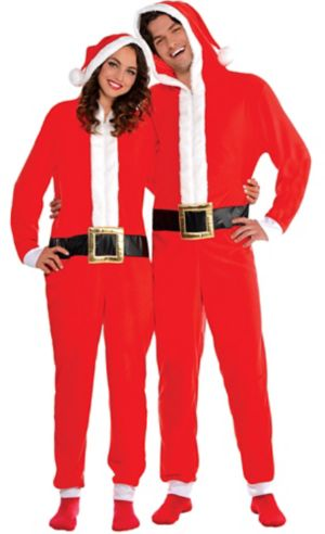 Adult Santa One Piece Pajamas
